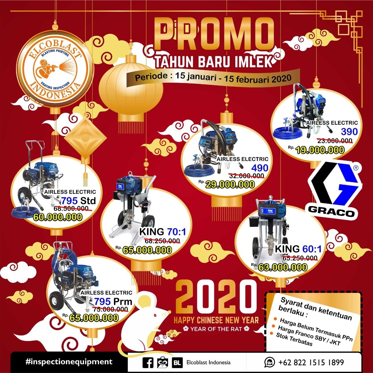 Promo Imlek 2020 – Diskon Besar Elcometer & Graco